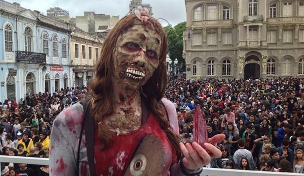 Zombie Walk trouxe milhares de Zumbis para a capital paranaense (Foto: Divulgação/RPC)