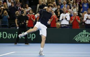Em quase 5h, Murray derrota Nishikori e leva Grã-Bretanha às quartas de final