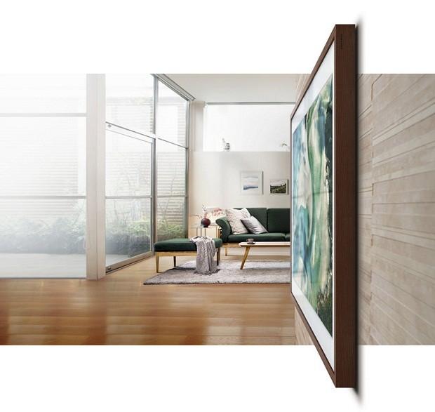 Moldura de madeira da The Frame TV (Foto: Divulgação)
