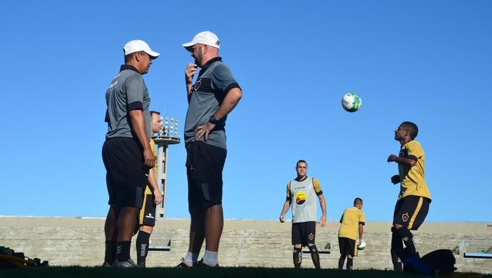 Botafogo-PB, treino do Botafogo-PB, no Almeidão (Foto: Edgley Lemos / GloboEsporte.com/pb)