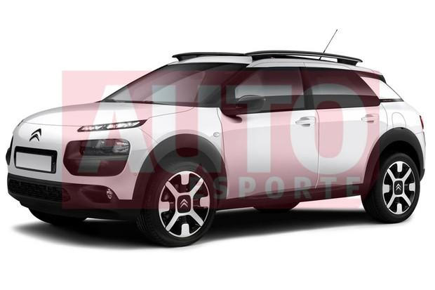 Projeção do Citroën C4 Cactus nacional (Foto: Renato Aspromonte / Autoesporte)
