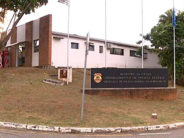 Sede da Polícia Federal, em Sorocaba (Foto: Reprodução/TV TEM)