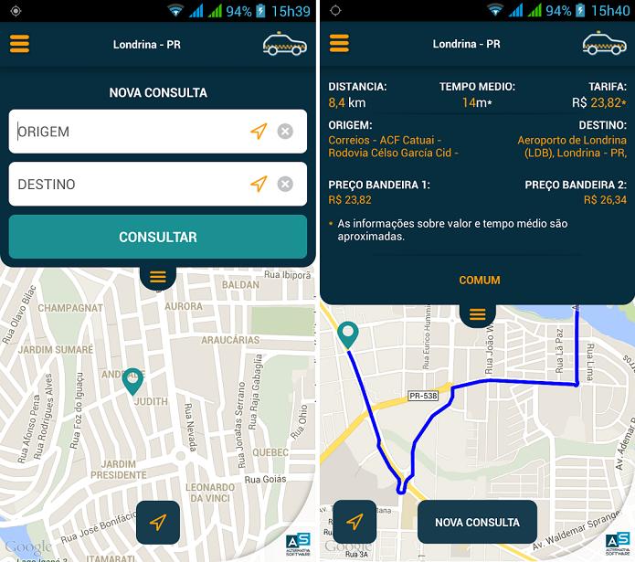 Taxi Help é um app que simula o valor de corridas de táxis (Foto: Divulgação/Taxi Help)