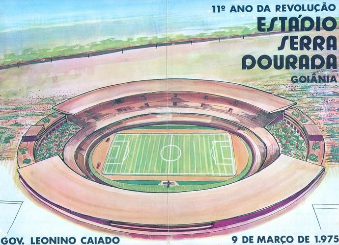 Convide da inauguração do estádio Serra Dourada, em 1975 (Foto: O Popular)