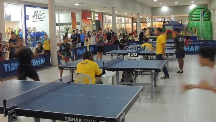 Copa de tênis de mesa em shopping  (Foto: Divulgação/FTM-SE)
