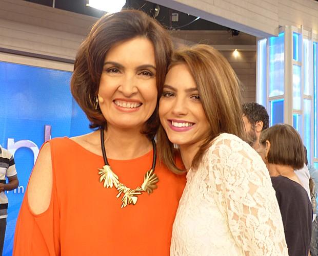 Fátima e Laís Pinho (Foto: Marcele Bessa / Gshow)
