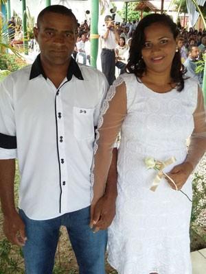 Flávio e Lucicleide também realizam o sonho do casamento nesta terça (Foto: Pedro Lins / TV Globo)