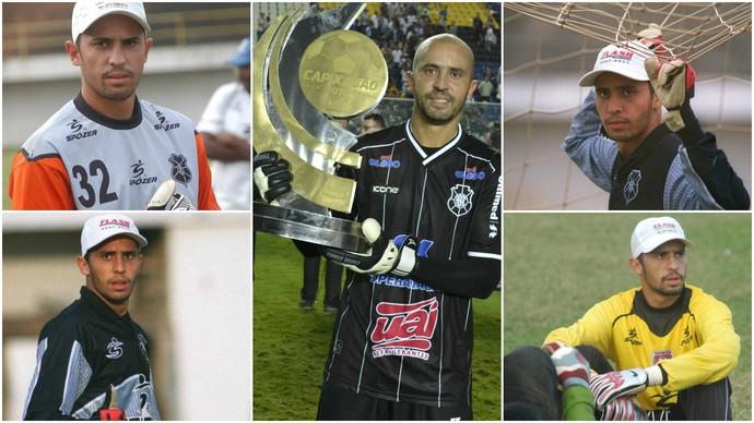 Momentos da carreira de Chico (Foto: Montagens em fotos de Sidney Magno Novo/GloboEsporte.com e A Gazeta)