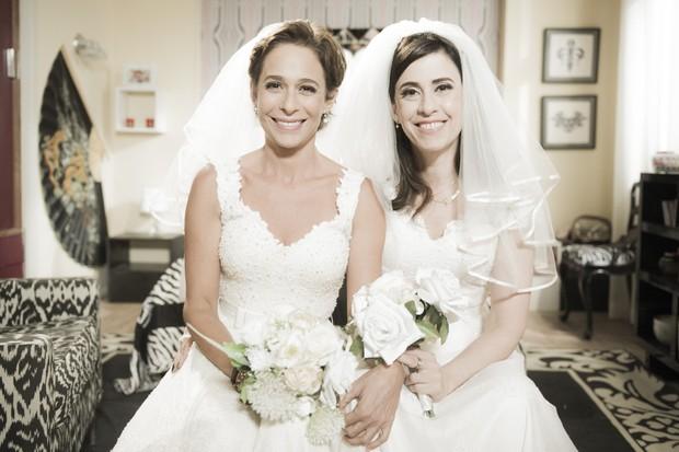 Sueli e Fátima vão ter um final feliz no último episódio do seriado Tapas & Beijos (Foto: Globo/Caiuá Franco)