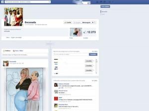 Página 'Encoxada' com mais de 12 mil seguidores no Facebook. Safernet pediu retirada do conteúdo (Foto: Reprodução)