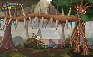 Jogador enfrenta chefão de fase em game 'Gryphon Knight' (Foto: Divulgação/Cyber Rhino)