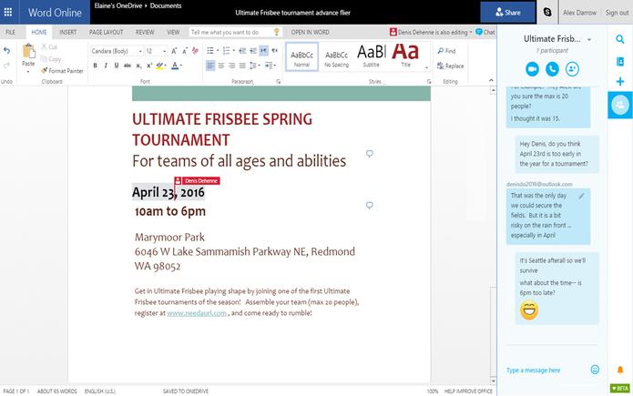 Skype  ganha maior integração com Office Online e Outlook.com (Foto: Divulgação/Microsoft)