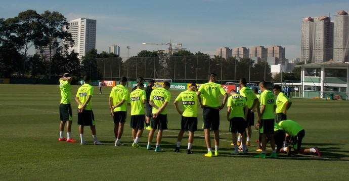 Figueirense treina em SP (Foto: Ronaldo Nascimento / Figueirense FC)