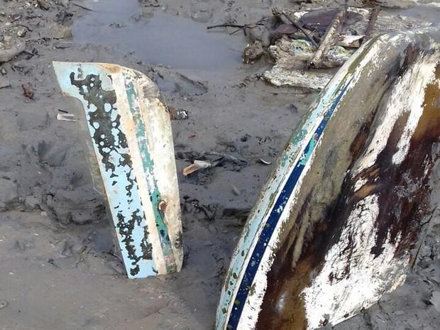 Encontrado destroços de aeronave na Ilha dos Caranguejos no MA (Foto: Juvêncio Castelo Branco / Divulgação)