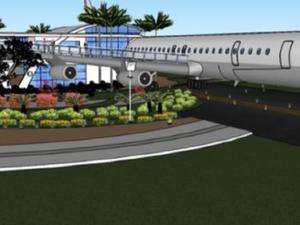 Avião abandonado em Viracopos será transformado em restaurante em MG (Foto: Reprodução/ EPTV)