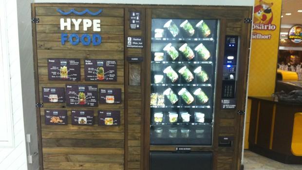 Máquina de self service contém saladas e lanches (Foto: Divulgação/Hype Food)