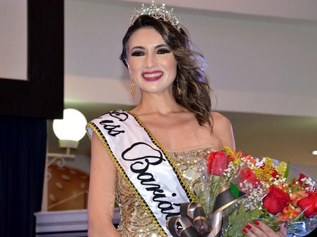 Jovem foi eleita a Miss Bariátrica, após perder 40 kg (Foto: Nielcem Fernades/Secom/Divulgação)