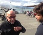 Paulo Coelho e Pedro Vasconcellos: papo nas ruas de Genebra | Divulgação