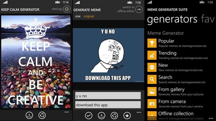 Meme Generator Suite é um aplicativo para Windows Phone que cria memes rapidamente (Foto: Divulgação/Windows Store)