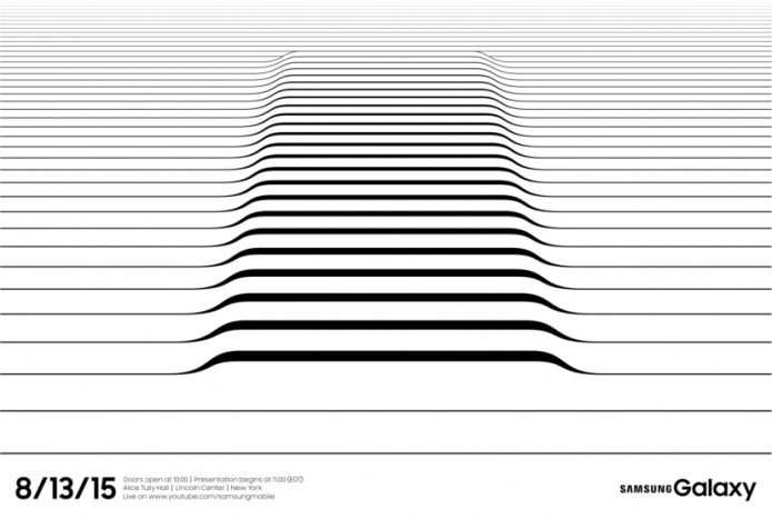 Cartaz do evento Unpacked da Samsung dá pista sobre display curvado do S6 Edge Plus (Foto:Divulgação/Samsung)