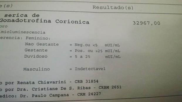 Exame de Geisy Arruda (Foto: Divulgação)