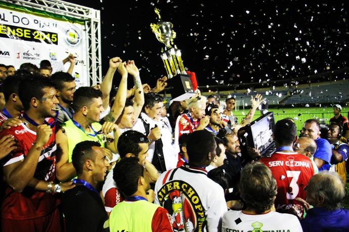 River-PI campeão estadual 2015 (Foto: Emanuele Madeira )