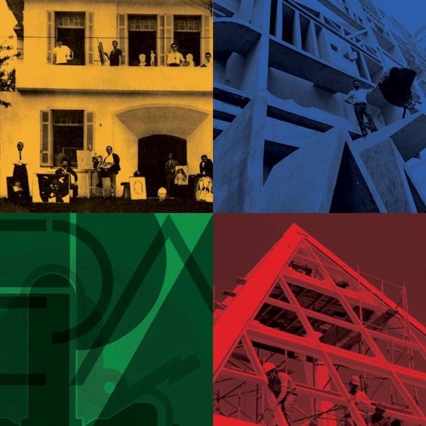 Montagem de fachadas das unidades da Augusta, Conselheiro Brotero e Groenlândia (Foto: divulgação)