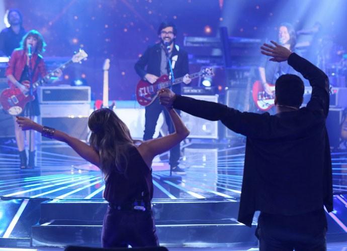 Paulo Ricardo e Sandy curtem música da Supercombo  (Foto: Isabella Pinheiro/ Gshow)