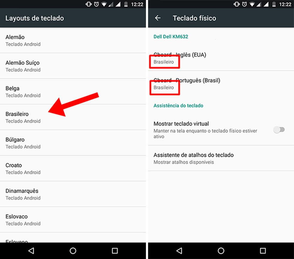 Deixe o teclado compatível com português brasileiro no celular (Foto: Reprodução/Paulo Alves)