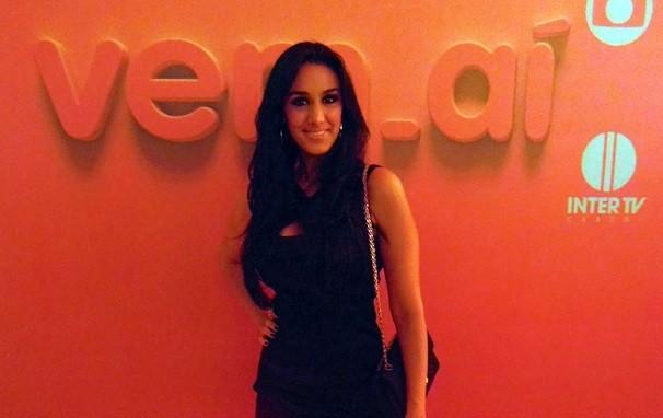 A cantora Marina Elali marcou presença na festa de lançamento do 'Vem_aí', em Natal. (Foto: Ferreira Neto)