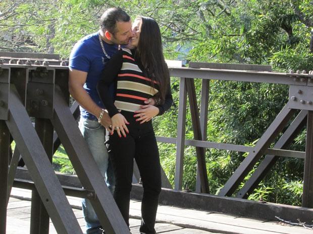 Gustavo e Juliana se conheceram na véspera do incêndio na boate Kiss (Foto: Gustavo Riet/Arquivo pessoal)