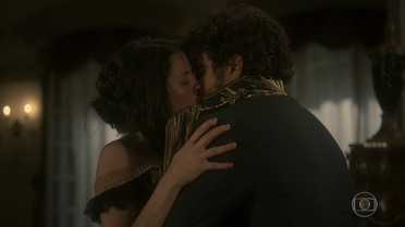 Dom Pedro beija Domitila