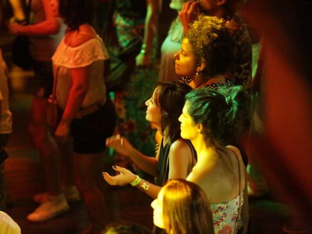 Andréia Horta em show no Centro do Rio (Foto: Marcello Sá Barretto/ Ag. News)