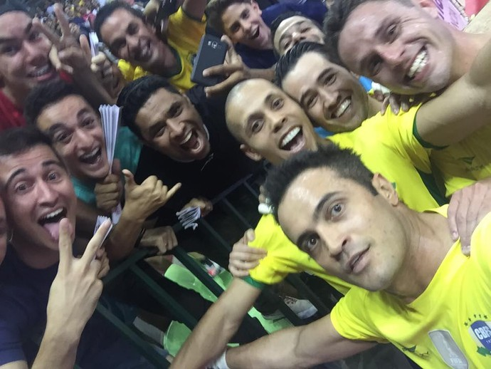 Falcão, Brasil x Cuba, futsal (Foto: Reprodução / Facebook)