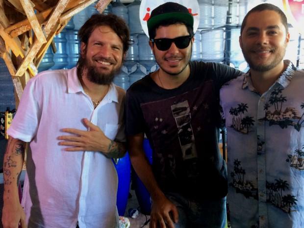 Saulo, Tomate e Levi Lima são parceiros no projeto 'Triângulo' (Foto: Henrique Mendes / G1)