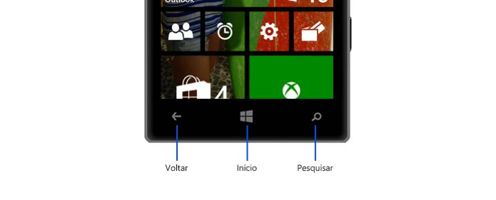 Tocando no botão Voltar do dispositivo (Foto: Divulgação/Microsoft)