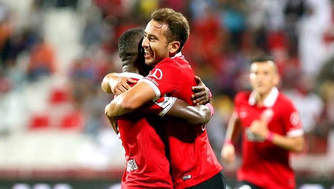 Everton Ribeiro, Al Ahli X Al Sharjah (Foto: Reprodução / Twitter)
