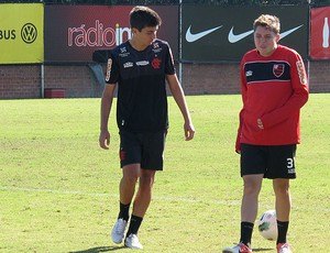 Mattheus e Adryan, Flamengo (Foto: Reprodu&#231;&#227;o / Site oficial do Flamengo)