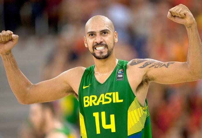 Marquinhos, Brasil X Servia - Basquete (Foto: Agência AP)