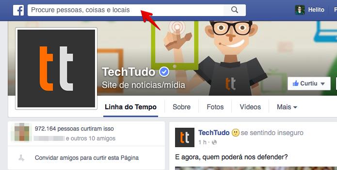 Acesse a busca do Facebook (Foto: Reprodução/Helito Bijora)