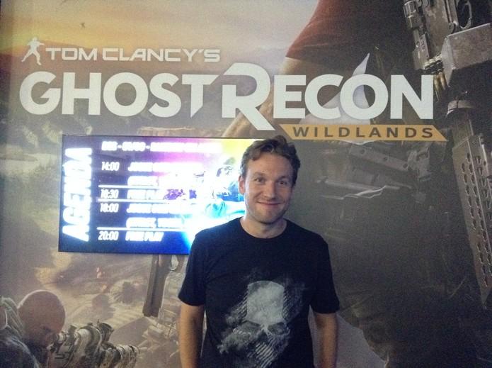 O produtor de Wildlands, Matthew Tomkinson (Foto: Reprodução/Felipe Vinha)