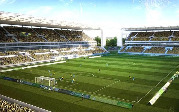 construção da Arena Pantanal (Foto: Divulgação)