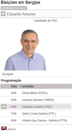 Amorim se candidata ao governo (Foto: Arte/TV Sergipe)
