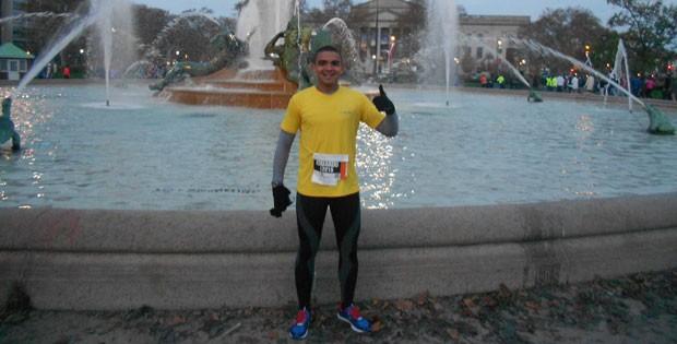 Eduardo Nunes - Maratona da Filadélfia 2012 - Eu Atleta (Foto: Arquivo Pessoal)