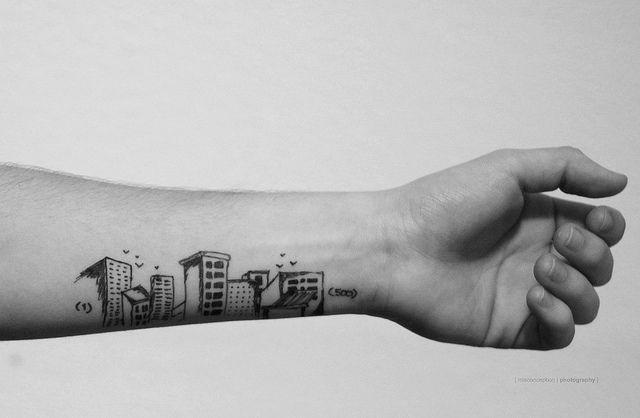 Tatuagens para quem ama casa e decora o casa e jardim for Architecture drawing 500 days of summer