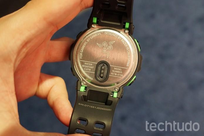 Sensores do Nabu Watch, que deve custar US$ 999 (Foto: Thássius Veloso / TechTudo)