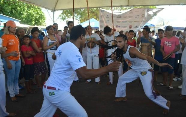 Evento em Santanacontou com programação cultural e esportiva (Foto: Jorge Abreu/Rede Amazônica)
