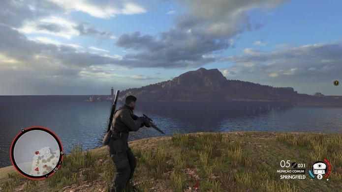 Sniper Elite 4 tem Missões secundárias e mapas maiores  (Foto: Reprodução/Diego Borges)