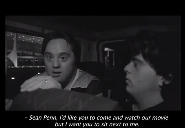 Ariel Goldenberg no vídeo para realizar sonho de conhecer o ator Sean Penn (Foto: Reprodução)