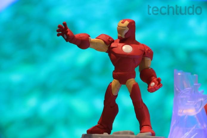 O Homem de Ferro é um dos heróis de Disney Infinity 2.0  (Foto: Lucas Mendes/ TechTudo)